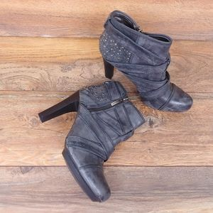 DKNY Hadley Leather Bootie Heels
